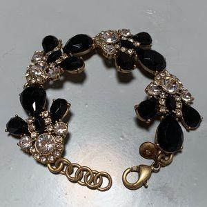 J.Crew black and gold statement bracelet